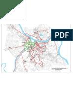 Karta Biciklistikih Staza Studije Biciklistikog Saobraaja u Beogradu - Konzorcijum Beocikling