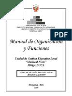 Manual de Organización y Funciones - MOF - 2009 Unidad de Gestión Educativa Local Mariscal Nieto