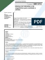NBR 13714 - Sistema de hidrantes e mangotinhos e acessórios
