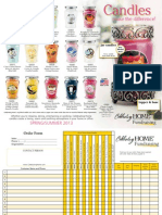 2013 Spring Candle Brochure