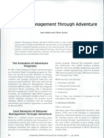Behavior Management Through Adventure