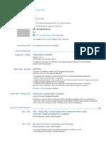 CV Example europass