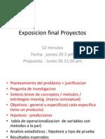 Exposicion Final Proyectos