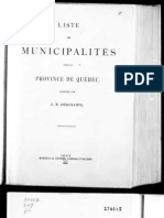 List of municipalities in the province of Quebec  (1886)