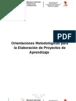ORIENTACIONES PROYECTO DE APRENDIZAJE Y EVALUACIÖN