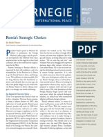 Russia's Strategic Choices