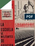 La escuela de militantes de Aragón