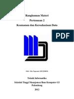 2. Keamanan Dan Kerahasian Data