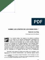 Sobre los límites de los derechos. Rafael de Asis Roig