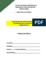 Temas de Fisica Febrero - Julio 2013