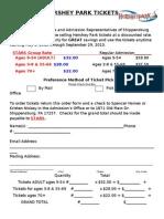 Hershey Park Order Form-STARS