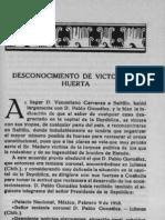 112197499 MEXICO REVOLUCIONARIO TOMO 1 Desconocimiento de Victoriano Huerta