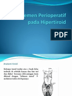 Manajemen Perioperatif Pada Hipertiroid