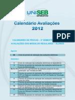 calendario de avaliaçoes