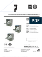 201HT-0512240-Undercounter Dishwasher - Installation Manual With Service Replacement Parts