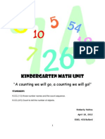 MATH UNIT for Kindergarten