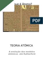 A Evolucao Dos Modelos Atomicos Thomson(1)