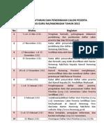 Jadwal Pendaftaran Calon Peserta Sertifikasi 2012