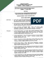 Perda No.3 Th 2008 Peenyelenggaraan Administrasi Kependudukan Dan Catatan Sipil1