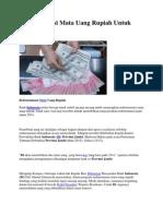 Redenominasi Mata Uang Rupiah Untuk Indonesia