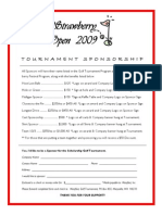 Golf Tournament Sponsorship Flyer