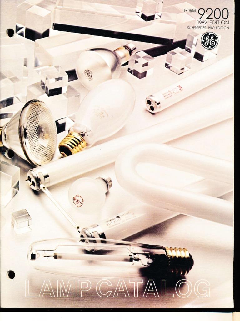 ge 1982 lamp catalog incandescent light bulb lighting