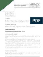 NIT-DICLA-15_00_Política Manutenção Acreditação Laboratório