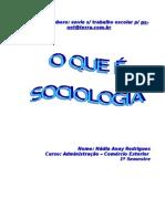 O Que e Sociologia