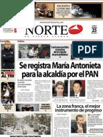 Periodico Norte de Ciudad Juárez 25 Marzo de 2013