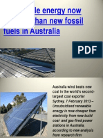 Renewable energy now cheaper than new fossil fuels in Australiaenewable Energy Now Cheaper Than New Fossil Fuels in Australia
