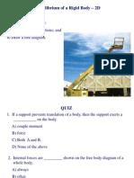1_Topic 06 - 2D Equilibrium of a Rigid Body