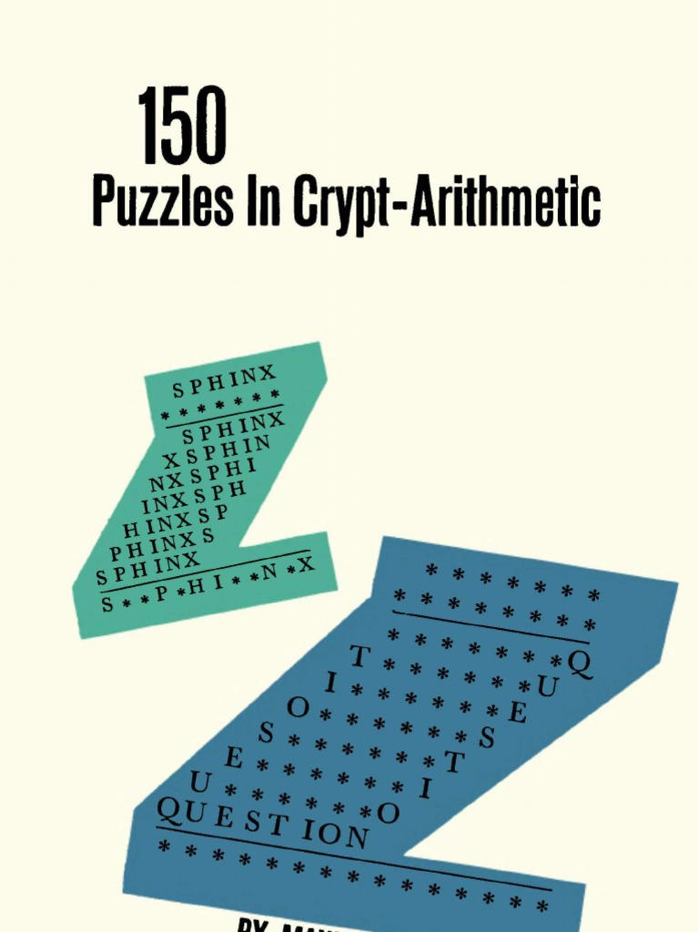 150 Puzzles in Crypt-Arithmetic by maxey brooke | Multiplication ...