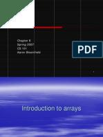 09 Ch8 Arrays