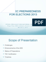 COMELEC Preparedness for Elections 2013 - PPCRV Pre-Election National Conference