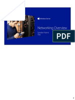 Windows Server 2012 Technical Overview - Networking Student Manual