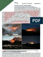 Un Incendio Forestal Obliga a Desalojar a 270 Personas en Barx y Simat de La Valldigna
