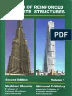 Design of Reinforced Concrete Structure     كتاب تصميم الخرسانة المسلحة للدكتور مشهور غنيم