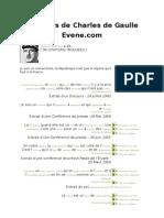 Citations de Charles de Gaulle