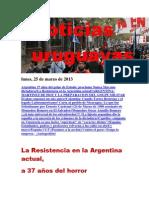 Noticias Uruguayas Lunes 25 de Marzo Del 2013