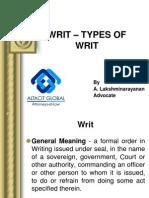 writtypesofwrit-111011053701-phpapp02