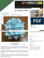 Origami, Cum Sa Faci o Minge in Colturi