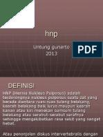 Nyeri Pinggang Karena HNP