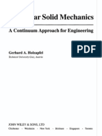 Nonlinear Solid Mechanics a Continuum Approach for Engineering