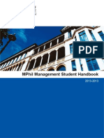 MPhil MGT Student Handbook