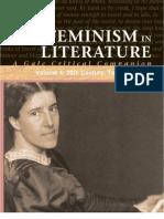 Feminism in Literature, Volume 4 - 20th Century, Topics