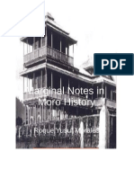 Marginal Notes in Moro History