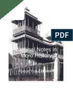 Marginal Notes in Moro History