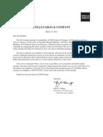 Wells Fargo Proxy Statement 2012