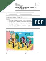 Evaluacion de Sociales Unidad 5 Primero Basico.
