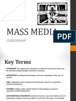 MASS MEDIA Censorship